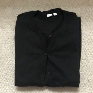 GAP NWOT lightweight black cardigan XXL
